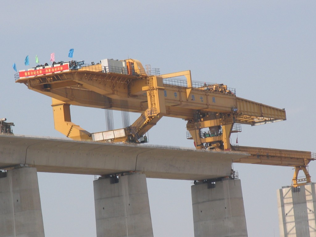 900t bridge girder launching gantry