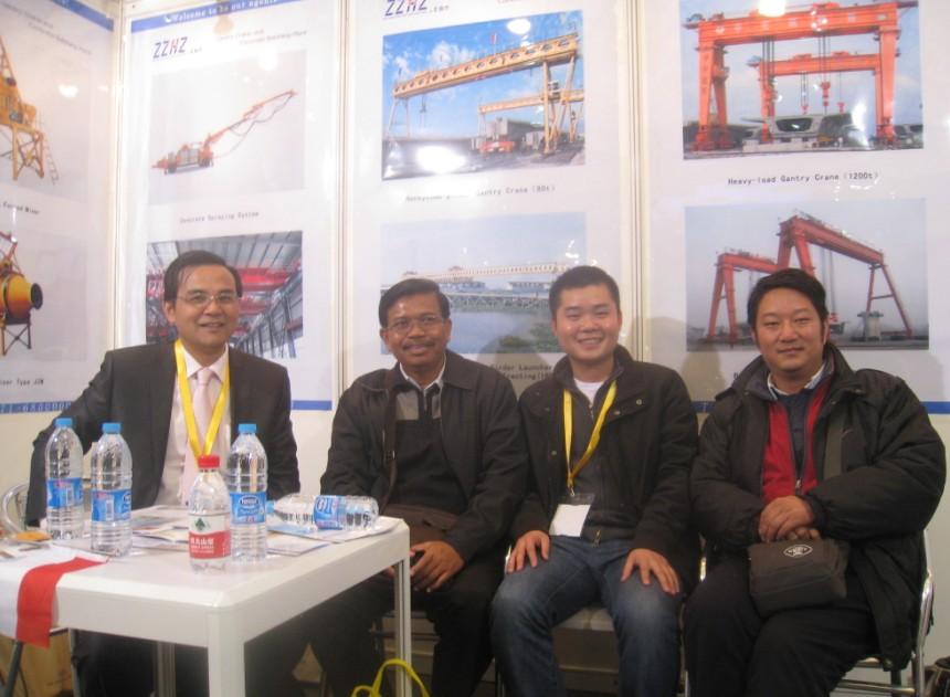 Customers in Bauma, China,2012