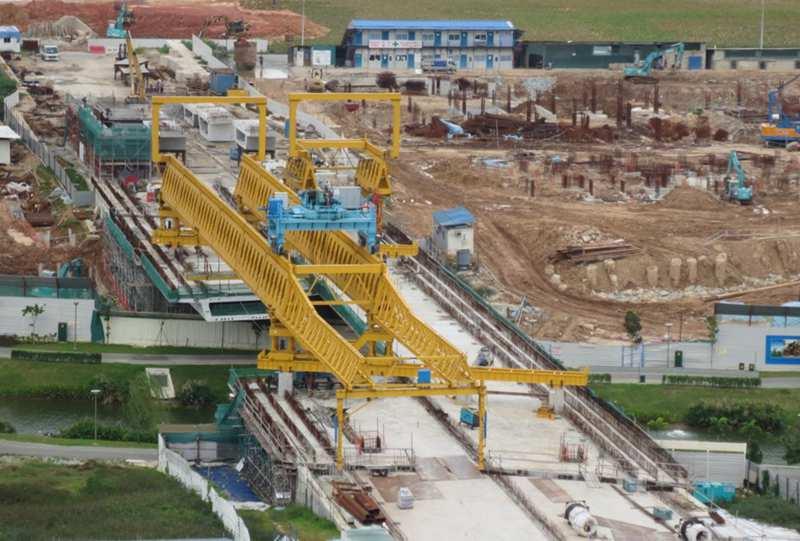 segmental assembly bridge girder launcher