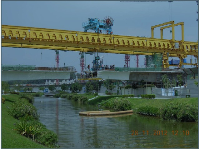 Segmental assembly bridge erection equipment