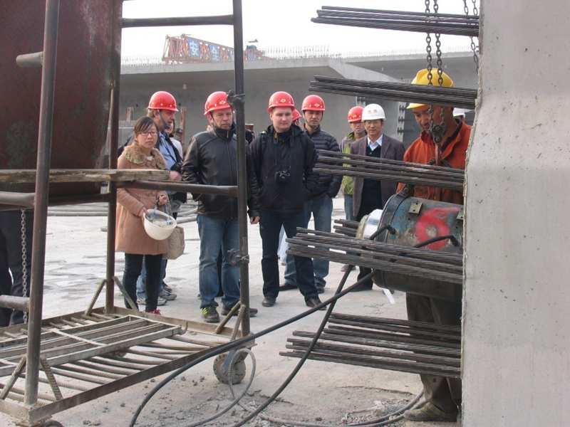 steel strands tension for precast girder