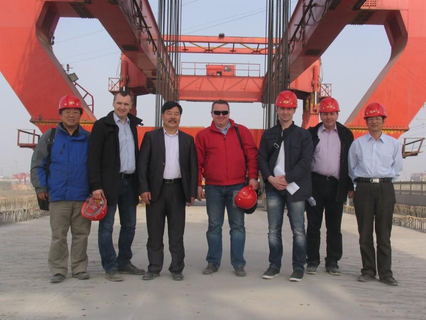 bridge building cranes