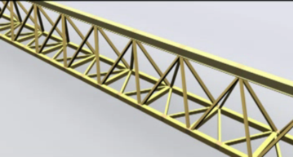 wind on truss girder