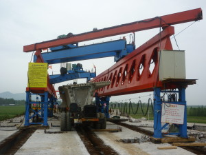 honeycomb girder launching gantry